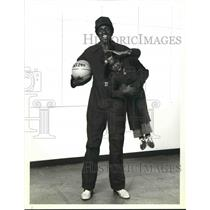 1979 Press Photo Harlem Globetrotter star Meadowlark Lemon with Gary Coleman