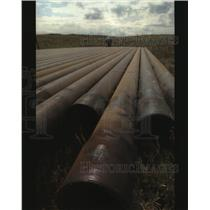 2001 Press Photo Dennis Steward Barrett Resources Company Site Mining Supervisor