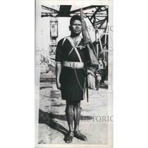 1953 Press Photo Sargent Major Mereri of Royal Papua New Guinea - mjb69994