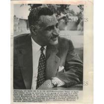 1957 Press Photo Egyptian President Nasser in Cairo - mjb70452