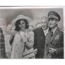 1962 Press Photo Shah of Iran and wife in Rome with Iranian Ambassador Amami