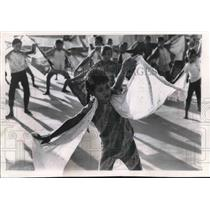 1971 Press Photo Children in Indonesia rehearsing for the Ramayana Ballet