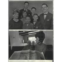 1973 Press Photo William Nolde family 1966, Joyce, Blair, Kimberle Anne, Brent