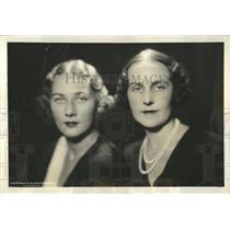 1932 Press Photo Mrs. Ogden Mills & Daughter D Fell - RRX83511