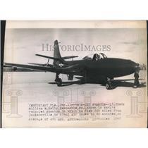 1947 Press Photo Lieutenant Commander William Kelly flew Navy's Twin Jet Phantom