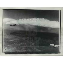 1955 Press Photo Aerial view of Jets - nem48549