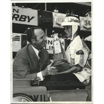 1971 Press Photo Larry Blair, All American Soap Box Derby First Place Winner