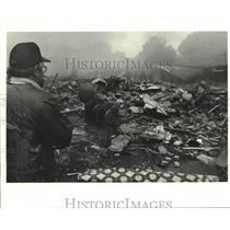 1982 Press Photo Wreckage after Crash of Pan Am Flight 759, Kenner, Louisiana