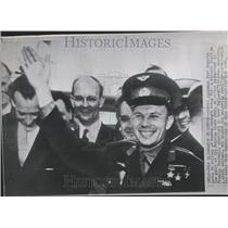 1961 Press Photo Soviet Spacemen Yuri Gagarin London - RRV53071