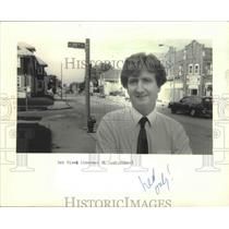 1986 Press Photo Robert Nicol, Sherman Park Community Assoc. executive director