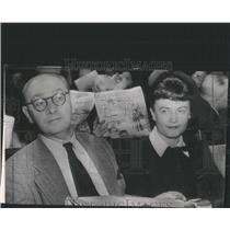1949 Press Photo Gerhardt Eisler and Wife at Conference - RRX98055