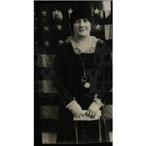 1928 Press Photo Mrs JN Horbey Denver Pose Black Gown - RRW78833