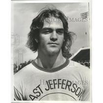1975 Press Photo Football - Nick Boscareno of East Jefferson School - nos05736