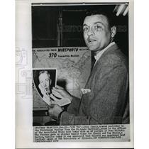1959 Press Photo Saint Louis Cardinals Baseball Player Gino Cimoli - nos06786