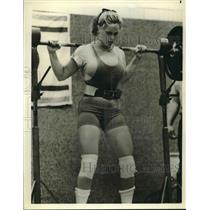 1979 Press Photo Powerlifter Helen Connors of Arizona State University