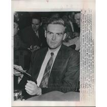 1948 Press Photo William Remington appears before Senate Investigating Committee