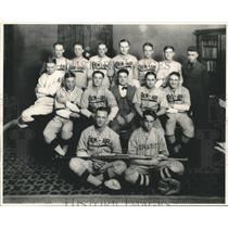 1922 Press Photo Crew-Air Baseball Team, Bissant Winter Park League Champions