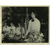1936 Press Photo Mrs. Roberta Lawson opens the 17th National Council - sba25828