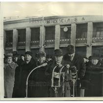 1957 Press Photo Hungary's Premier Janos Kadar spoke in Moscow