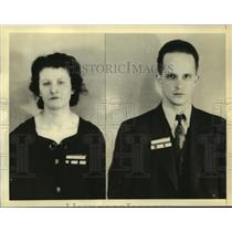 1938 Press Photo Johanna Hofman & Gunether Gustave Rumrich arrested by FBI