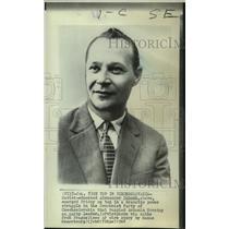 1968 Press Photo Soviet-educated Alexander Dubcek, Communist party leader.