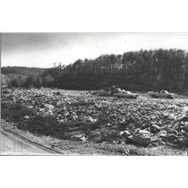 1978 Press Photo Trespassing at Turkey Creek Landfill despite warning sign