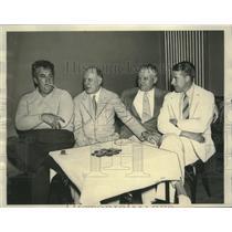 1932 Press Photo Annual Bridge tournament winners of US Whist League - nef71213