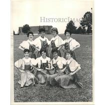 1962 Press Photo Winners in third place is East Jefferson High School, Metairia.
