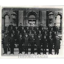 1896 Press Photo Historic picture of policemen in front of armory, Milwaukee.