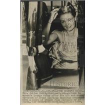 1948 Press Photo Trap shooter Mrs. Julius Petty - sas02824