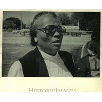1987 Press Photo Myrtha Johnson, mother of first Milwaukee black killed, Vietnam