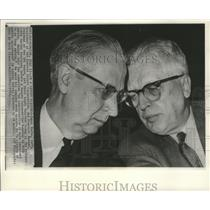 1965 Press Photo James Roche and Frederic Donner at Senate auto safety hearing