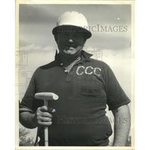Press Photo Harold Barby nine goal polo player of Detroit Three C's - sba26179