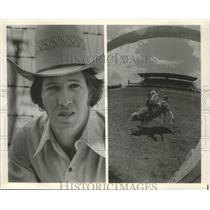 Press Photo Bobby Berger, Professional Rodeo Cowboy Association Bull Rider