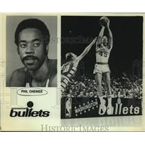 Press Photo Washington Bullets basketball player Phil Chenier - sas05199