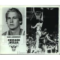 Press Photo Chicago Bulls basketball player Mark Landsberger - sas05247