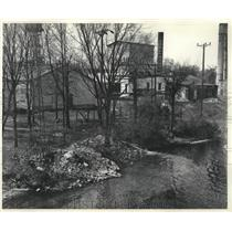 1959 Press Photo Paper mill pollutes Wolf river in Showano County, Wisconsin