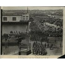 1927 Press Photo Third Regiment Marines Leaving San Diego on President Grant