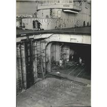 1959 Press Photo, Aircraft Carrier Clemenceau - KSK00927