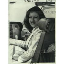 1978 Press Photo Karen Coyle, 22-year-old veteran pilot, in single-engine plane