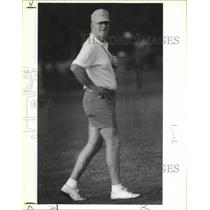1990 Press Photo Houston Oilers football coach Jack Pardee - sas02844
