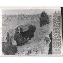 1948 Press Photo Algerian border village rocky caves - RRX82395