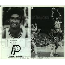 Press Photo Indiana Pacers basketball player Mel Bennett - sas05441