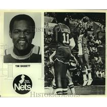 Press Photo New Jersey Nets basketball player Tim Bassett - sas05451