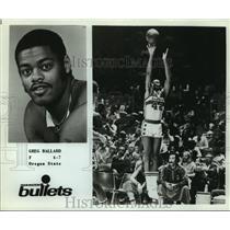 Press Photo Washington Bullets basketball forward Greg Ballard - sas05751