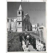 1949 Press Photo Church on the Italian island of Stromboll at Easter time