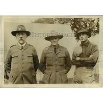 1923 Press Photo Col Andre Begaud, Lt James Pos & Lt Van Spreekens - nem52429