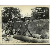 1933 Press Photo Cuban Sharpshooters Shoot Demonstrators - nem52460