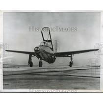 1956 Press Photo Temco Aircraft Model 51, Navy's First Primary Jet Trainer