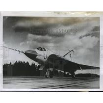 1955 Press Photo New Swedish Jet Fighter the J-35 ready for first flight
